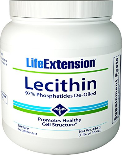 Life Extension Lecithin (97% Phosphatides De-Oiled), 16 Ounces ()