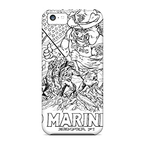 Apple Iphone 5c INk26860SyQi Customized Lifelike Marines Bulldog Pattern Perfect Hard Phone Cover -AshleySimms