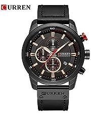 READ Curren Impermeabile orologio da uomo 3 bar impermeabile, cinturino in quarzo PU calendario 3Bar orologio da polso impermeabile pieno orologio da polso al quarzo