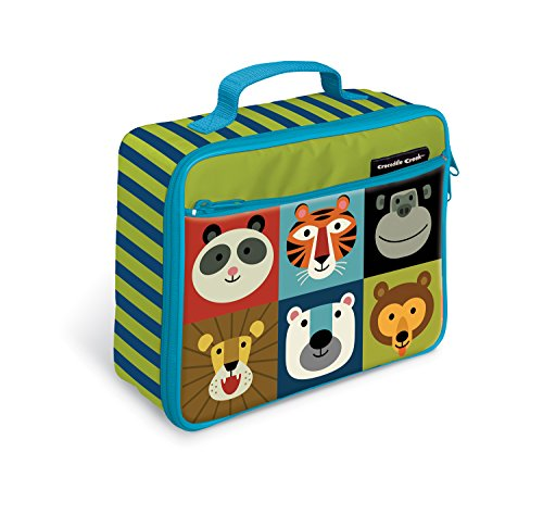 (Crocodile Creek Eco Kids Jungle Jamboree Insulated Lunch Box with Handle, 9.5&Quot)