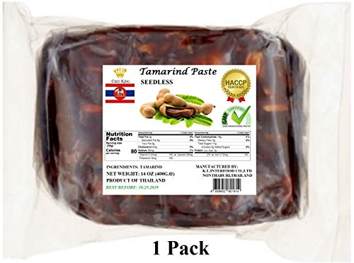 1 Pack of 14oz Wet Tamarind Paste,Sour Tamarind Paste Seedless Tamarido Product Thailand,Fresh