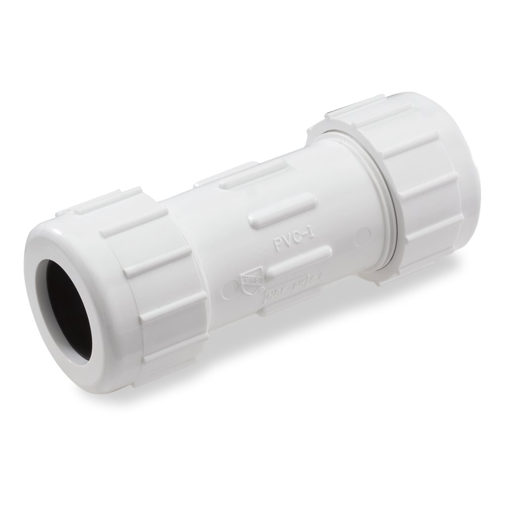 King Brothers Inc. CPC-4000 4-Inch Compression PVC Compression Coupling, Gray by King Brothers Inc.