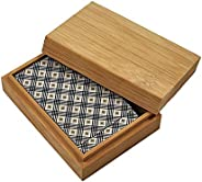Rehomy Storage Case for Poker Bamboo Box Holder for Poker Playing Cards