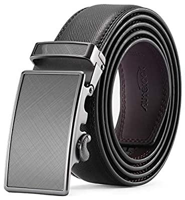 Men's Belt - Autolock Leather Ratchet Dress Belt for Men With Automatic Buckle - Enclosed in an Elegant Gift Box