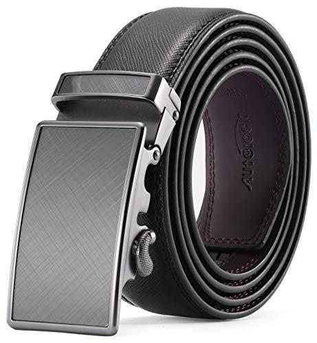 [해외]남자의 벨트-자동 버클을 가진 남자를 위한 자동 잠금 가죽 라 넷 드레스 벨트-우아한 선물 상자에 동봉 / Men`s Belt - Autolock Leather Rachet Dress Belt for Men With Automatic Buckle - Enclosed in an Elegant Gift Box