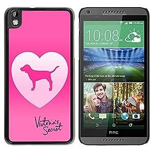 Unique Designed Victoria's Secret Love Pink Cover Case For HTC Desire 816 in Black Phone Case 33