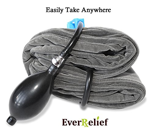 EverRelief Cervical Neck Traction Device FDA Registered ✮ Inflatable & Adjustable Neck Stretcher Collar for Home Traction Spine Alignment by EverRelief (Image #7)