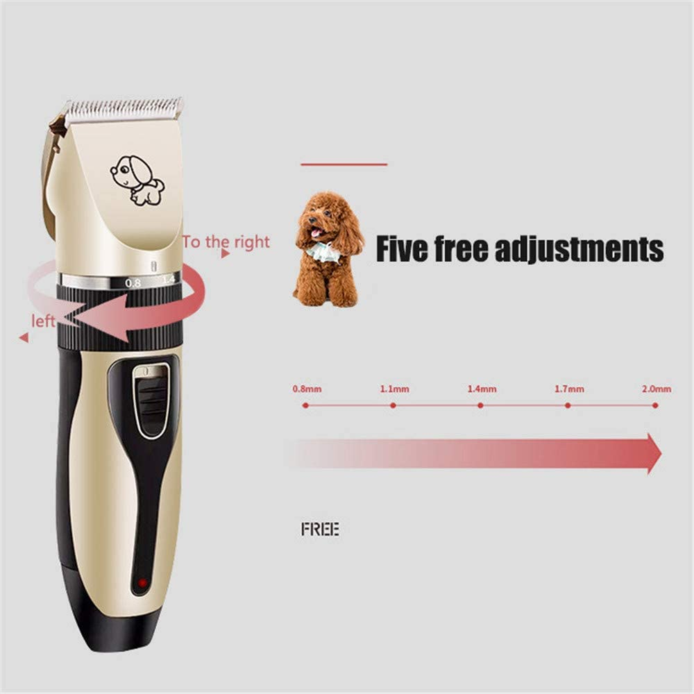 USB Rechargeable Cats Low Noise Dog Grooming Tools Pet Trimming Kit for Dogs Electric Pet Grooming Clippers and Other Pets 4YANG Professional Pet Grooming Kit