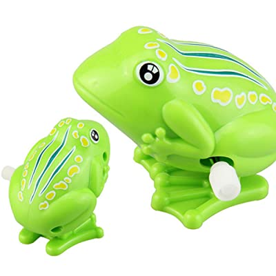 Shineweb Classic Toys Mini Frog Animal Jumping Model Clockwork Wind-up Educational Children Toy Gift: Toys & Games