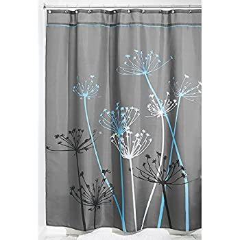 Amazon Com Interdesign Leaves Long Shower Curtain Green Inch