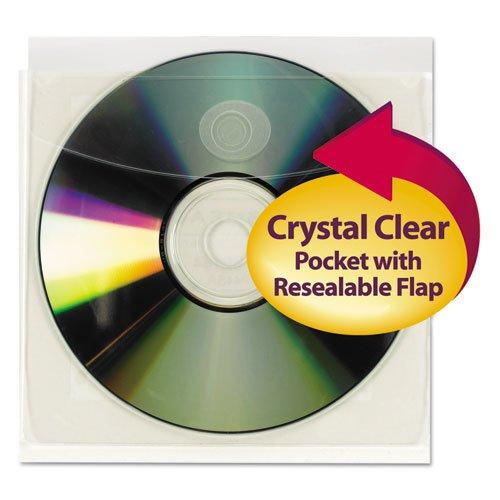 (Self Adhesive Vinyl Pocket,Diskette Insert Size,10/PK,CL - 2pc )
