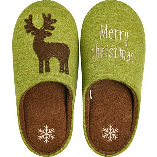 Casa Pantofola Scarpe Natale Green Pantofole Mute Non Interni Alce Inverno Da Fumetto Dandanjie scivolo Carino Donna xnq0U6wqSf