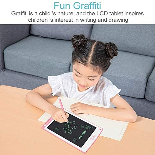 Supports One-Click Clear /& Local Erase Digital Drawing Board Black Color : Pink Drawing Accessories 8.5-inch LCD Writing Tablet