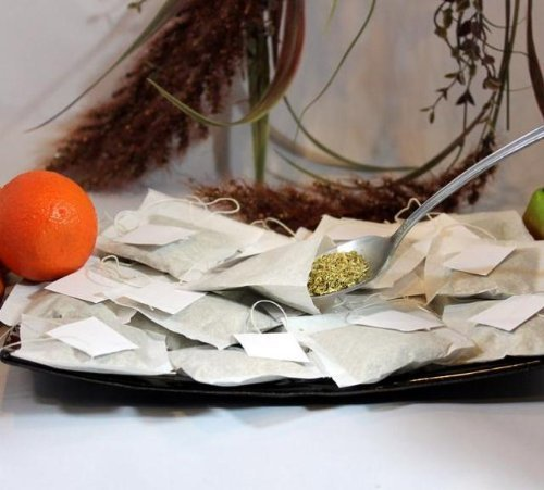 50 pcs Empty String Teabags or Herbs Heat Seal Loose 2.5 x 2.25 Tea Bags