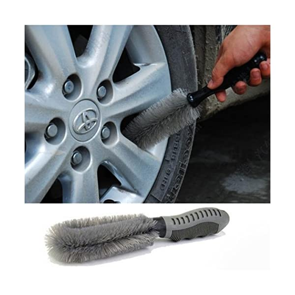 MALLOOM 1PC Auto Car Motorcycle Tire Rim Hub Brush Cleaning Tool Kit Portable