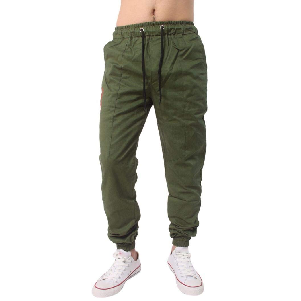 Realdo Clearance, Men Casual Slack Solid Harem Sweatpants Jogger Pant Sportwear Baggy Comfy (XXXX-Large,Army Green)