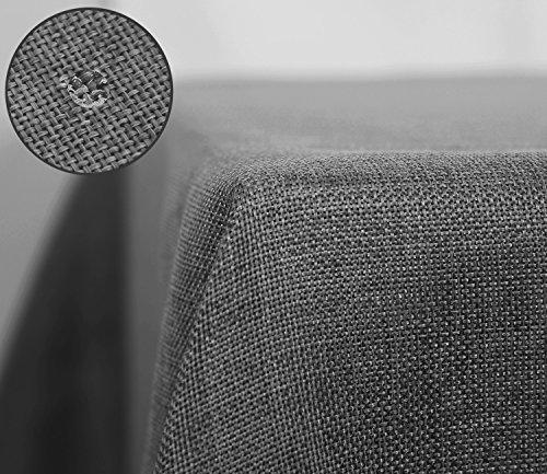 Deconovo Nappe Anti Taches Rectangulaire Exterieur Effet Lin Imperméable Decoration Table 150x240cm Gris