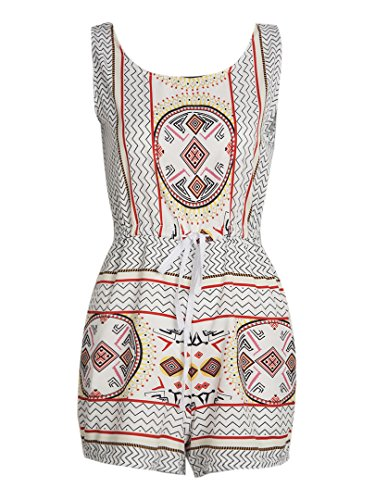 Choies Womens Drawstring Romper Jumpsuit