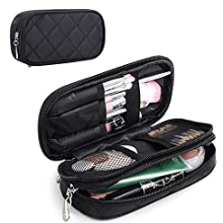 WMB Travel Pro 51oKFtG4%2BkL._SS247_ MONSTINA Makeup Bag for Women,Pouch Bag,Makeup Brush Bags Travel Kit Organizer Cosmetic Bag (Black)