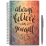 Tools4Wisdom 2019 Planner 5x8 Hardcover - Dated December 2018 to December 2019 - with Tabs and Pen Holder - Pages in Color - Daily Weekly Monthly Spiral Planner