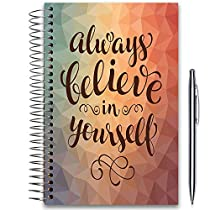 Tools4Wisdom 2019 Planner 5x8 Hardcover - DatedDecember 2018 to December 2019 - with Tabs and Pen Holder - Pages in Color - Daily Weekly Monthly Spiral Planner