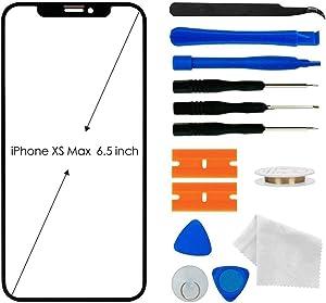Original iPhone Xs Max Screen Glass Replacement, Front Outer Lens Glass Screen Replacement Repair Kit for Apple iPhone Xs Max Series