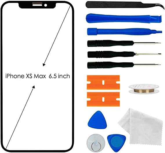 Amazon Com Original Iphone Xs Max Screen Glass Replacement Front Outer Lens Glass Screen Replacement Repair Kit For Apple Iphone Xs Max Series