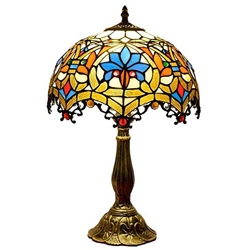Table Lamp, Tiffany Style Table Lamp, Stained Glass Desk Lamp, Northern Europe Creativity Table Lamp, Bedroom/Bedside/Living Room/Studyroom Decorative Desk Lamp, E271, 3048cm GJX
