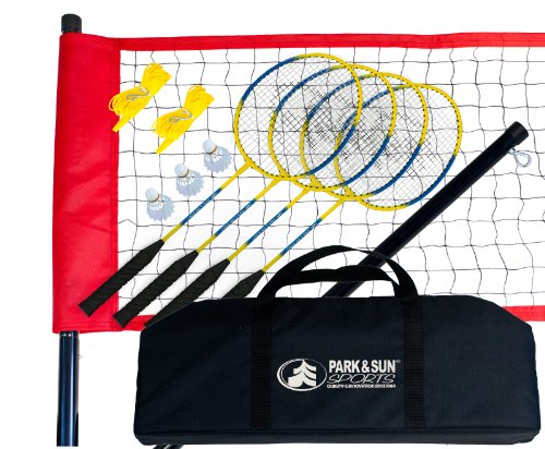 (Park & Sun Sports Portable Outdoor Badminton Net System with Carrying Bag and Accessories: Sport Series )
