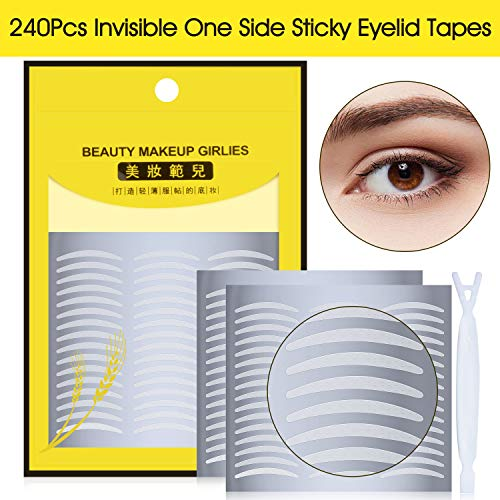 240Pcs Natural Ultra Invisible One Side Sticky Double Eyelid Tape Stickers, Instant Eyelid Lift Without Surgery, Perfect for Hooded, Droopy, Uneven, or Mono-eyelids (120 Pairs, Slim) (Surgery Lift Eyelid)