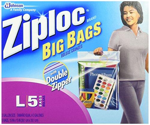 Ziploc Big Bags, Large, 3 gallon, 15x15 in., 40 ct (8/5s)