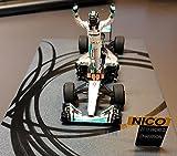Mercedes F1 W07 Hybrid Nico Rosberg Formula 1 2016 World Champion Abu Dhabi Grand Prix. Resin Model Car in 1:43 Scale by Spark