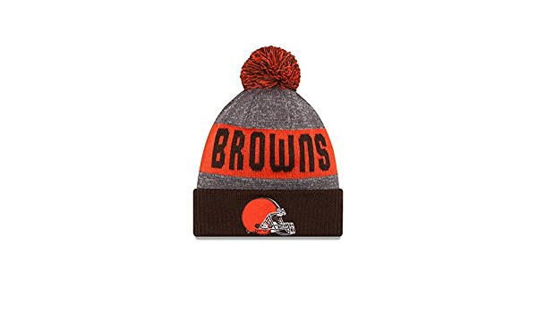 check out fbb2e 2e7c9 ... coupon code for cleveland browns new era 2016 nfl sideline on field  sport knit hat brown