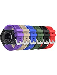 MoKo Gear S3 Frontier / Classic Watch Band, [6-PACK] Soft Silicone Sport Replacement Strap for Samsung Gear S3 Frontier / S3 Classic /Moto 360 2nd Gen 46mm Watch, NOT FIT S2 & S2 Classic, Multi Colors