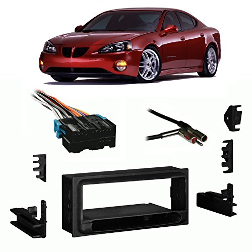 Compatible with Pontiac Grand Prix 94-03 Single DIN Harness Radio Install Dash Kit