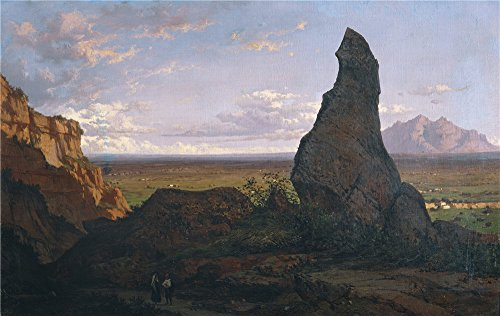 [Oil Painting 'Rigalt Y Farriols Luis Monserrat Desde La Roca Dreta Ca. 1852' 8 x 13 inch / 20 x 32 cm , on High Definition HD canvas prints is for Gifts And Garage, Gym And Hallway Decoration,] (Tv Commercial Costumes Halloween)