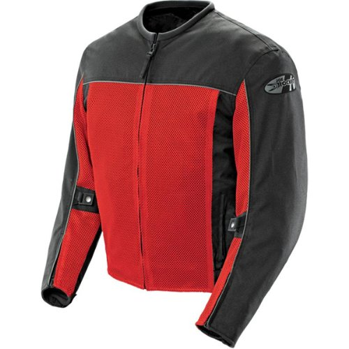 Joe Rocket Velocity Men's Textile Street Racing Motorcycle Jacket - Red/Black / 2X-Large