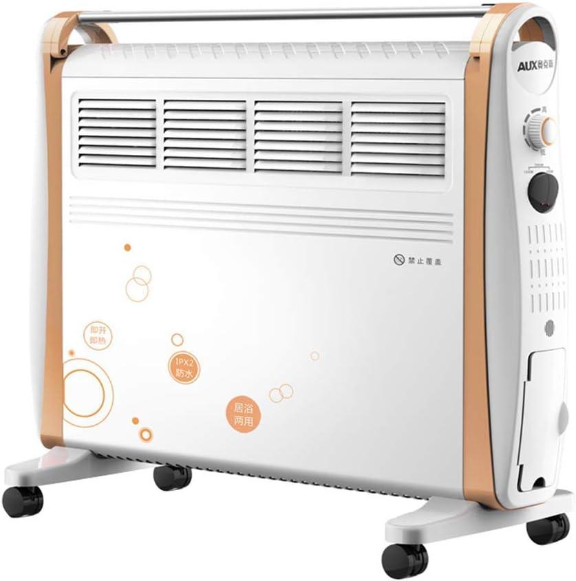 CMXSC Rejilla de Convección Calentador eléctrico con el Secado, 3 Potencia del Engranaje, la Temperatura Ajustable de Control, baño de Agua en Dos Lados del disipador de Calor Ventilador electrico
