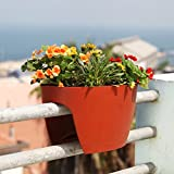 24 in. Railing and Deck Planter windowbox Greenbo XL (Pack of 6) from Greenbo, Terracotta