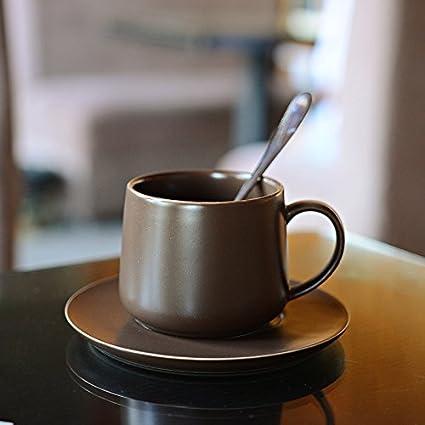 LLA La taza de café de los platos con el Kit Portavasos tazas de