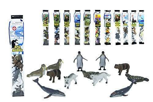 Animal Arctic Set (12 PC TUBE ARCTIC ANIMAL PLAYSET)
