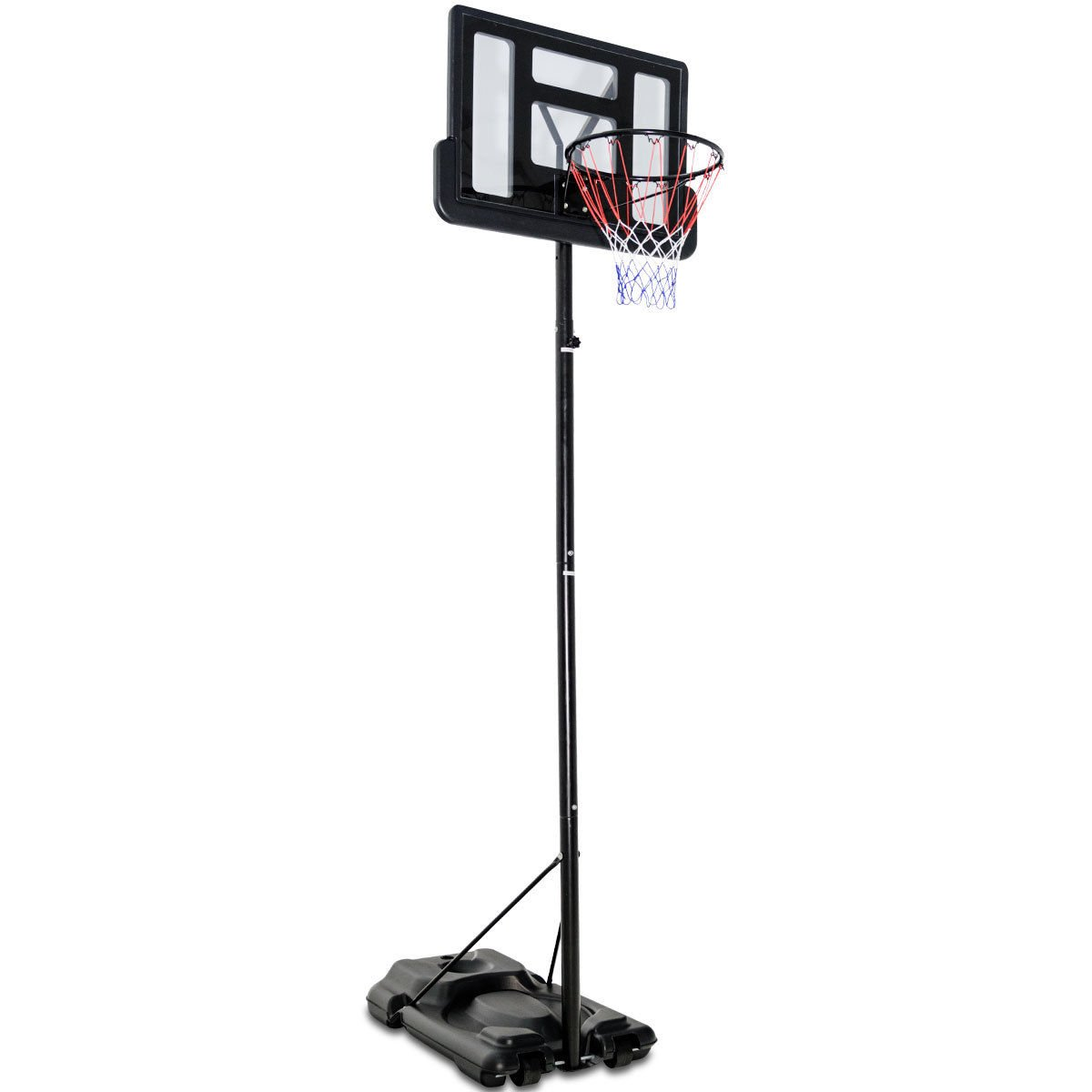 fdinspirationブラックポータブルホイールバスケットボールフープシステムBackboard w /調節可能な高さ8.5 ' to 10 ' with eBook B07FYQWK3K