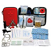 First Aid Kit with 2 pcs Face Mask Earthquake Survival Kit for Emergencies at Home Car Camping Traveling Boat Business…
