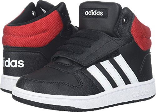 Adidas NEO Baby Vs Hoops Mid 2.0 I, Core Black/White/Scarlet, 8 M US Toddler