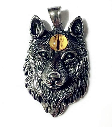 - Wolf Head Necklace Pendant, LOYEH Animal Power Norse Viking Amulet Necklaces Pendants Men Women Gift Jewelry 1.9 x 1.3 Inches