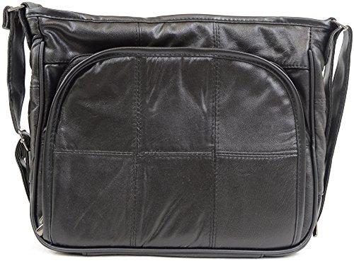 Damenhandtasche/Schultertasche aus weichem Nappaleder
