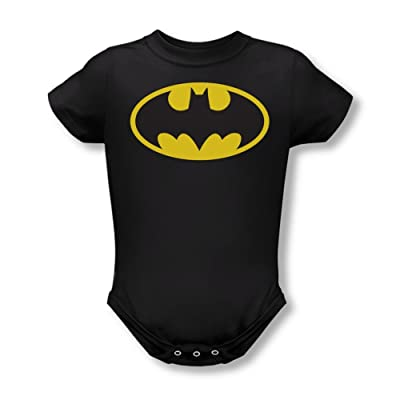 Batman Classic Logo Black Infant Baby Onesie Romper: Home & Kitchen