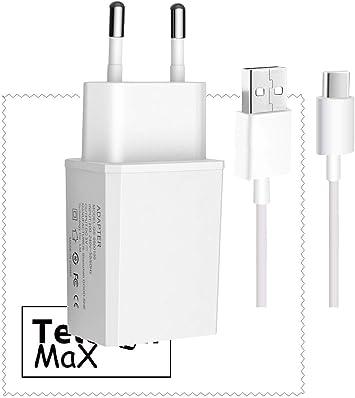 TELEFONMAX Chargeur 2A blanc câble de charge de type C pour Huawei P20 P20 Dual P20 Pro P20 liteMate 2020 Pro 20 LiteMate 20X Mate 1010 Pro