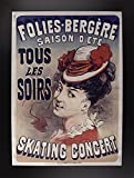 Folies Bergére Skating Concert Framed Print 18.69''x13.48'' by Vintage Apple Collection
