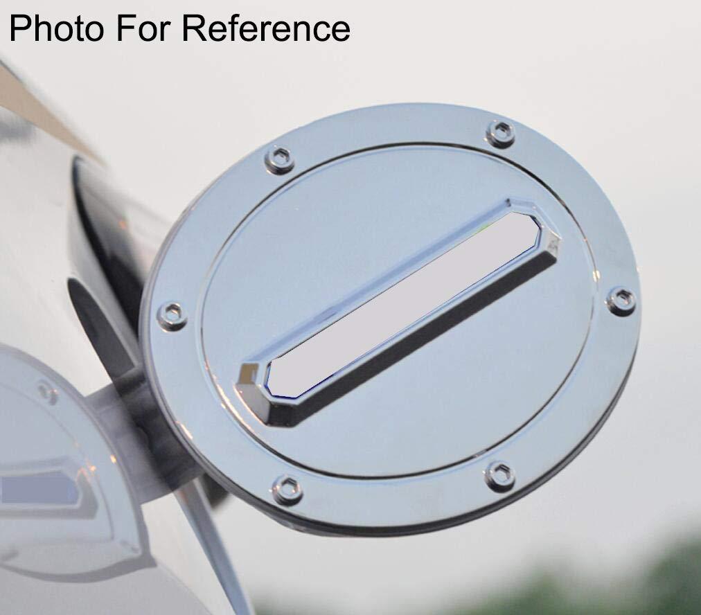 Yingchi Chrome Car Fuel Gas Tank Cap Cover Gas Door Cover Trim Emblems for Toyota Highlander 2014-2019